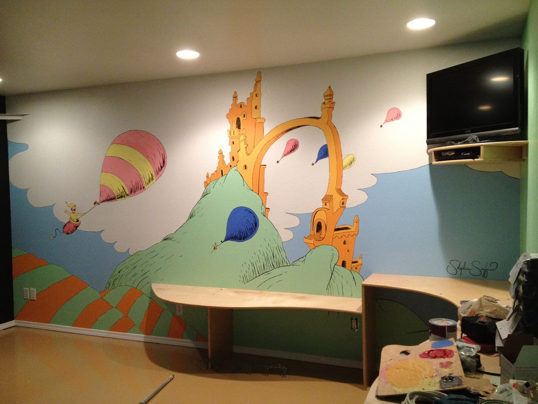 Crossfit kona stephanie seyfried for Dr seuss wall mural